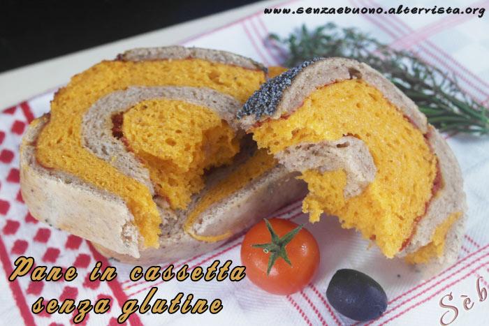 Pane in cassetta senza glutine vegan