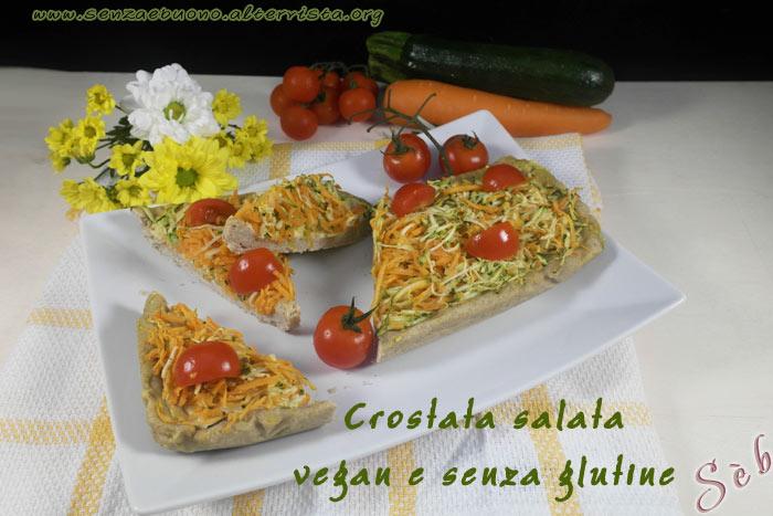 Crostata salata vegan senza glutine