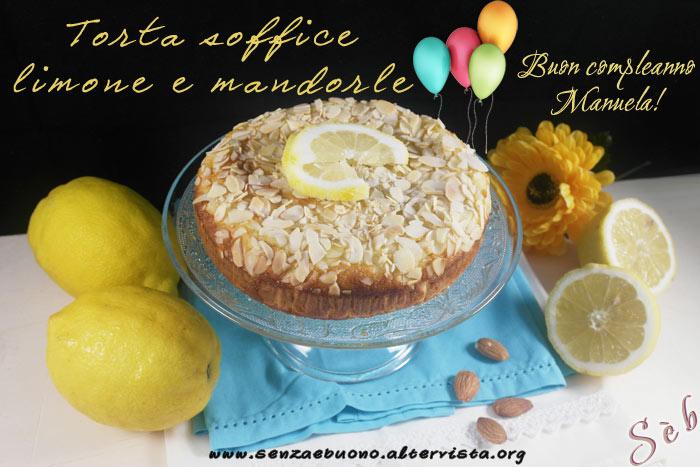 Torta soffice limone e mandorle