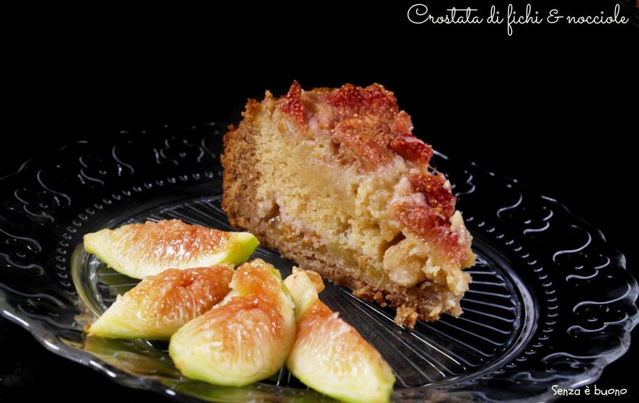 Crostata di fichi e nocciole vegan senza glutine