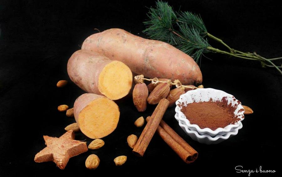 Torta di patate dolci senza farina vegan