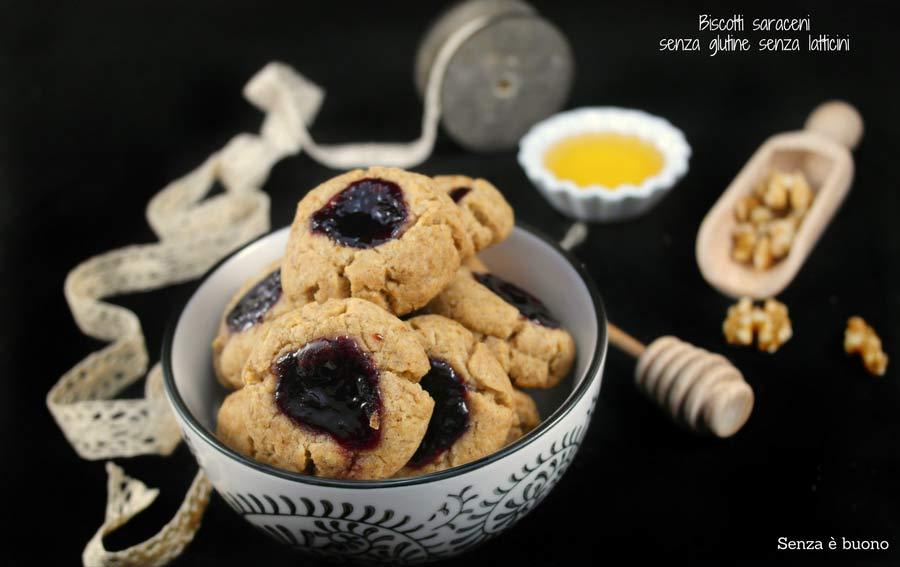 Biscotti saraceni senza glutine senza latticini