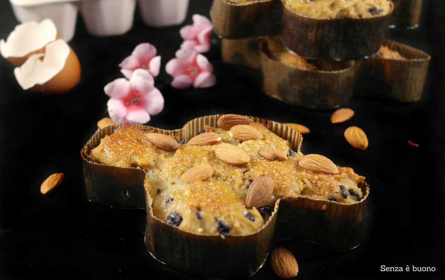 Colomba senza glutine senza latticini con farine naturali e lievito madre