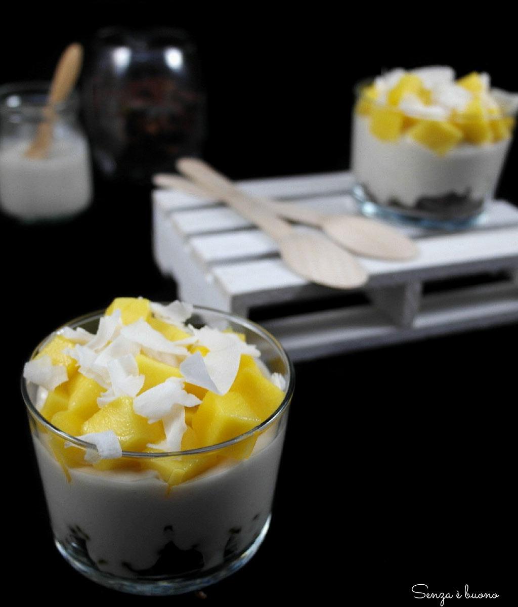 Dessert al mango senza glutine vegan