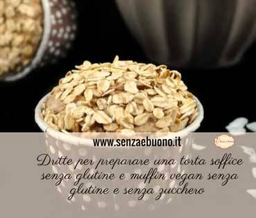 dolce soffice senza glutine- muffin vegan gluten free senza zucchero