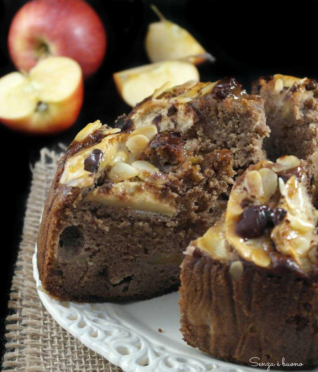 Torta di mele all'acqua senza glutine con farina di castagne