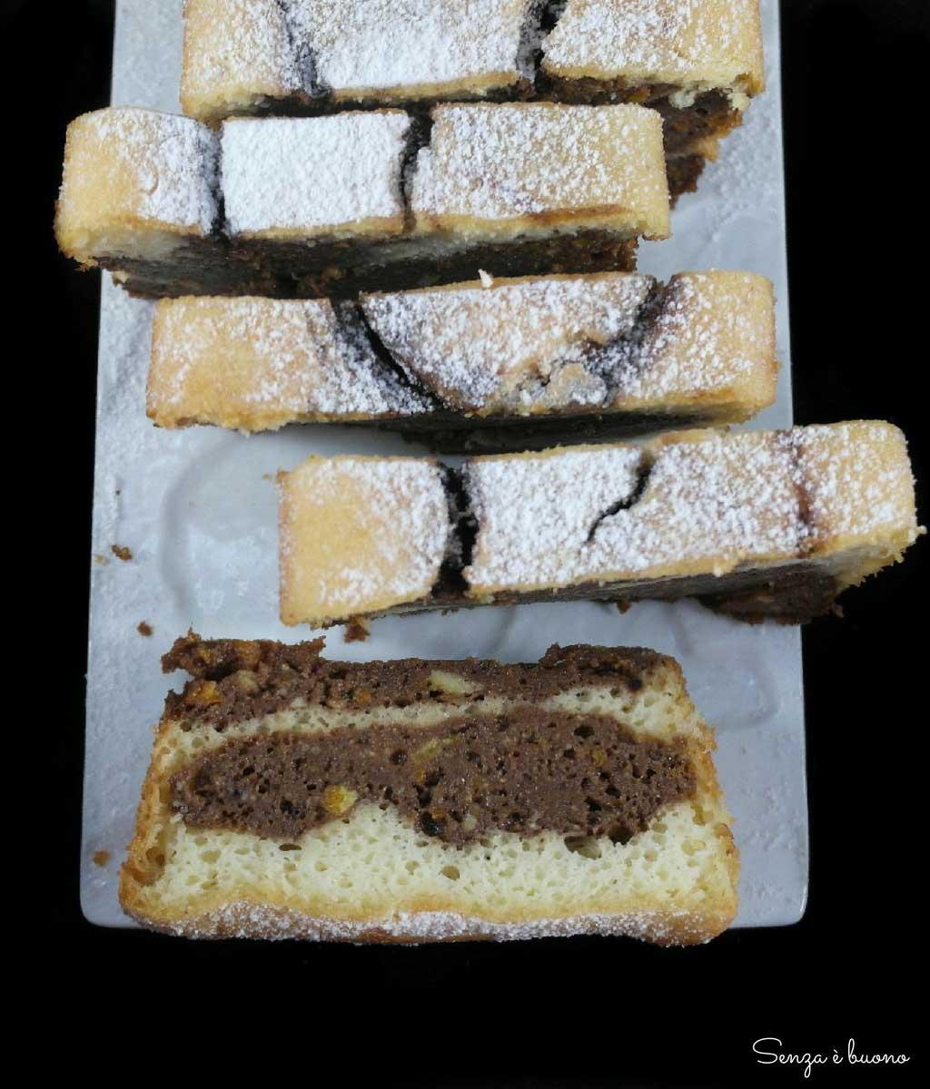 Ricetta plumcake bianco e nero senza glutine