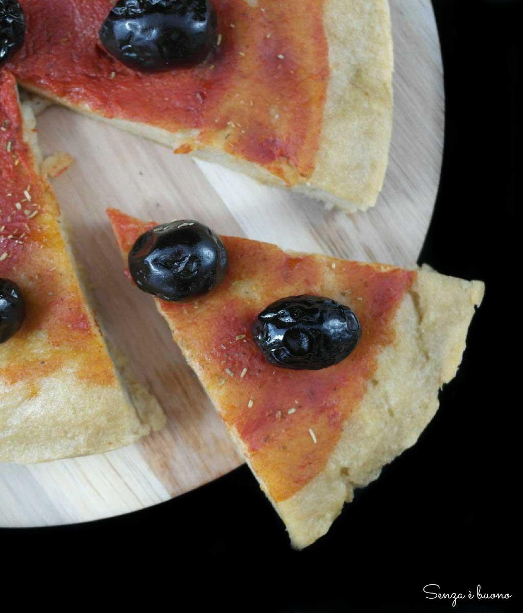 Pizza con farine naturali senza glutine