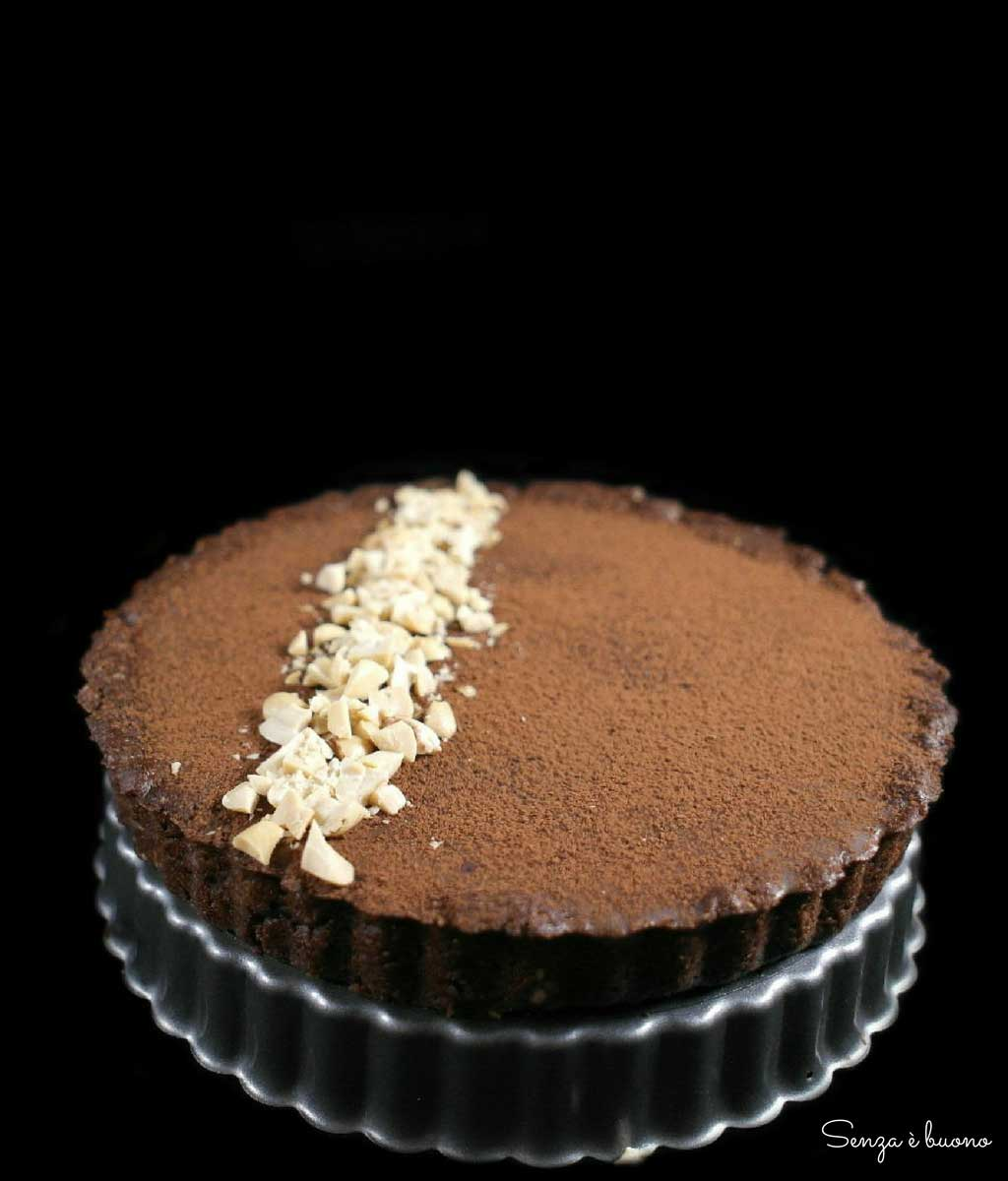 Crostata cioccolato caramello senza glutine vegan