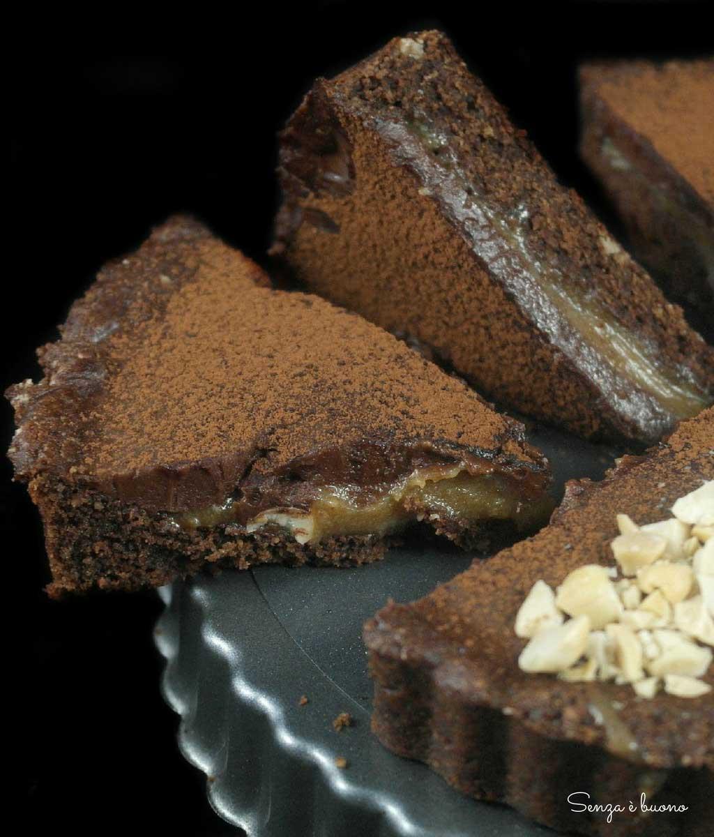 Ricetta crostata cioccolato caramello arachidi