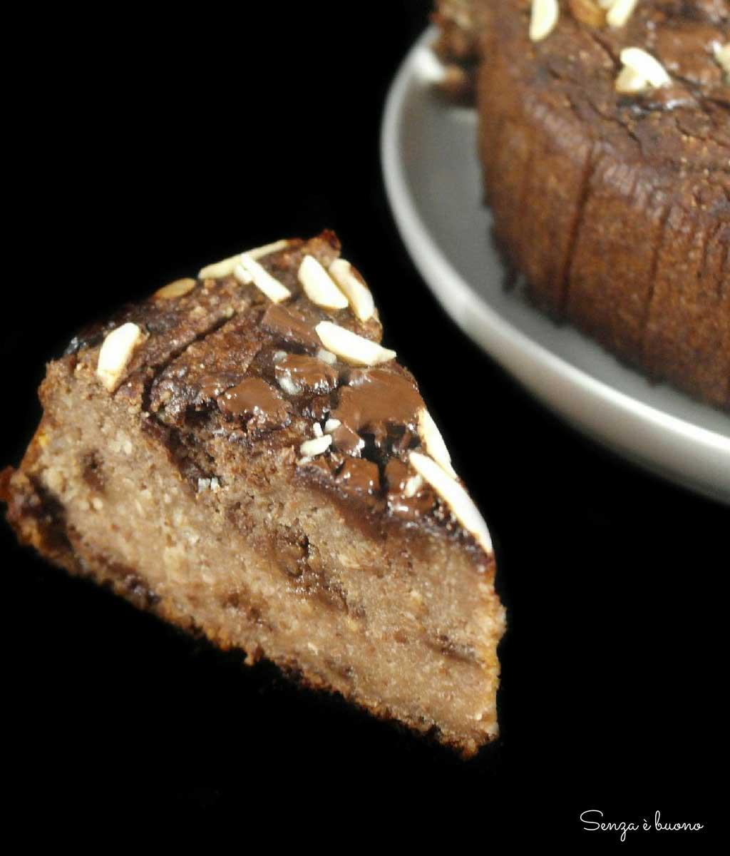 Torta cacao e mele senza glutine vegan
