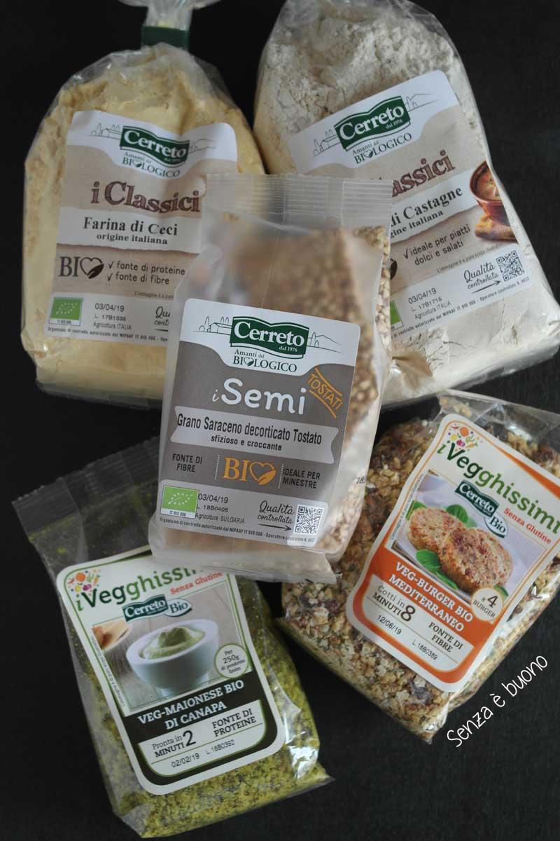 Cerreto bio prodotti senza glutine