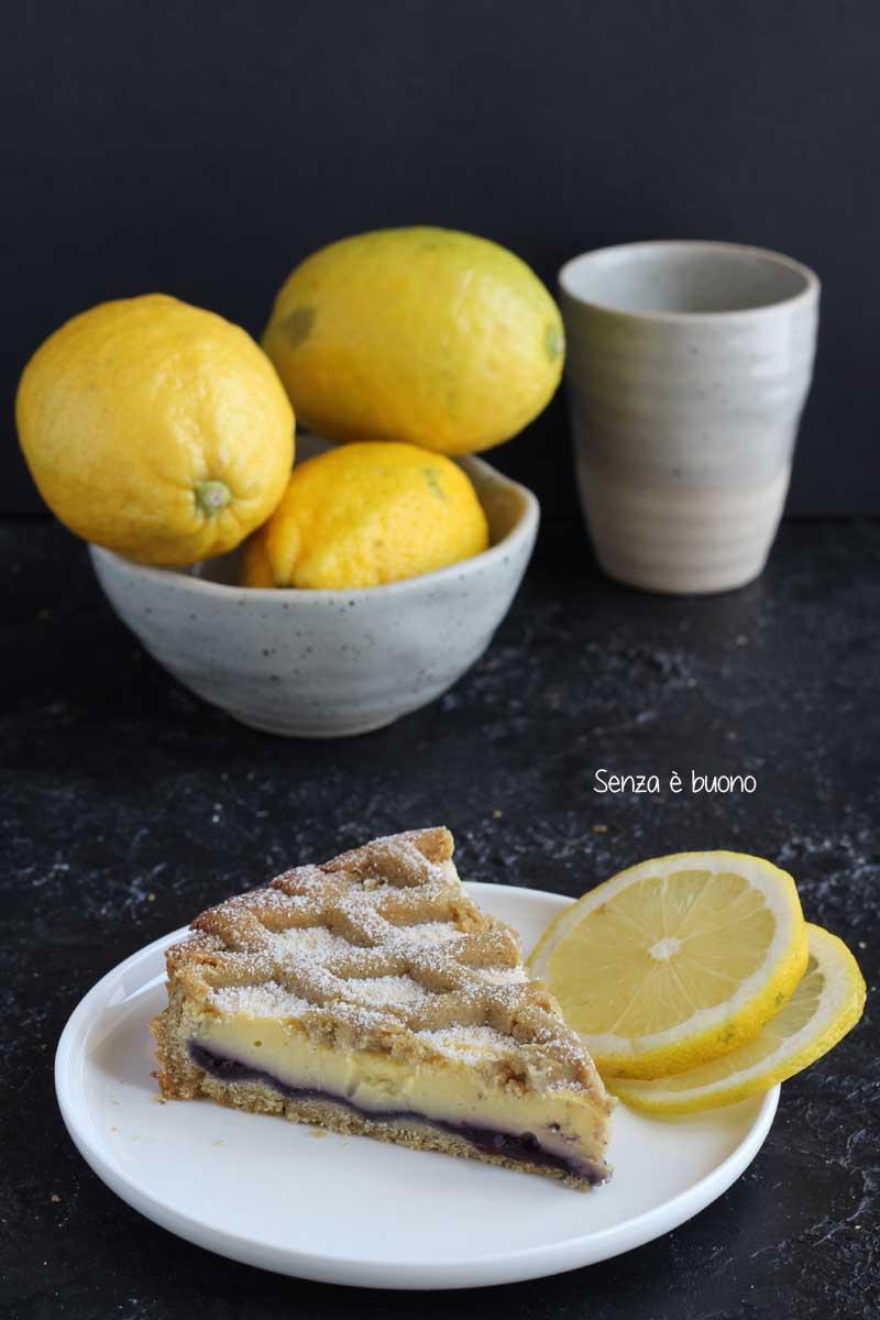 Ricetta crostata con crema pasticcera al limone