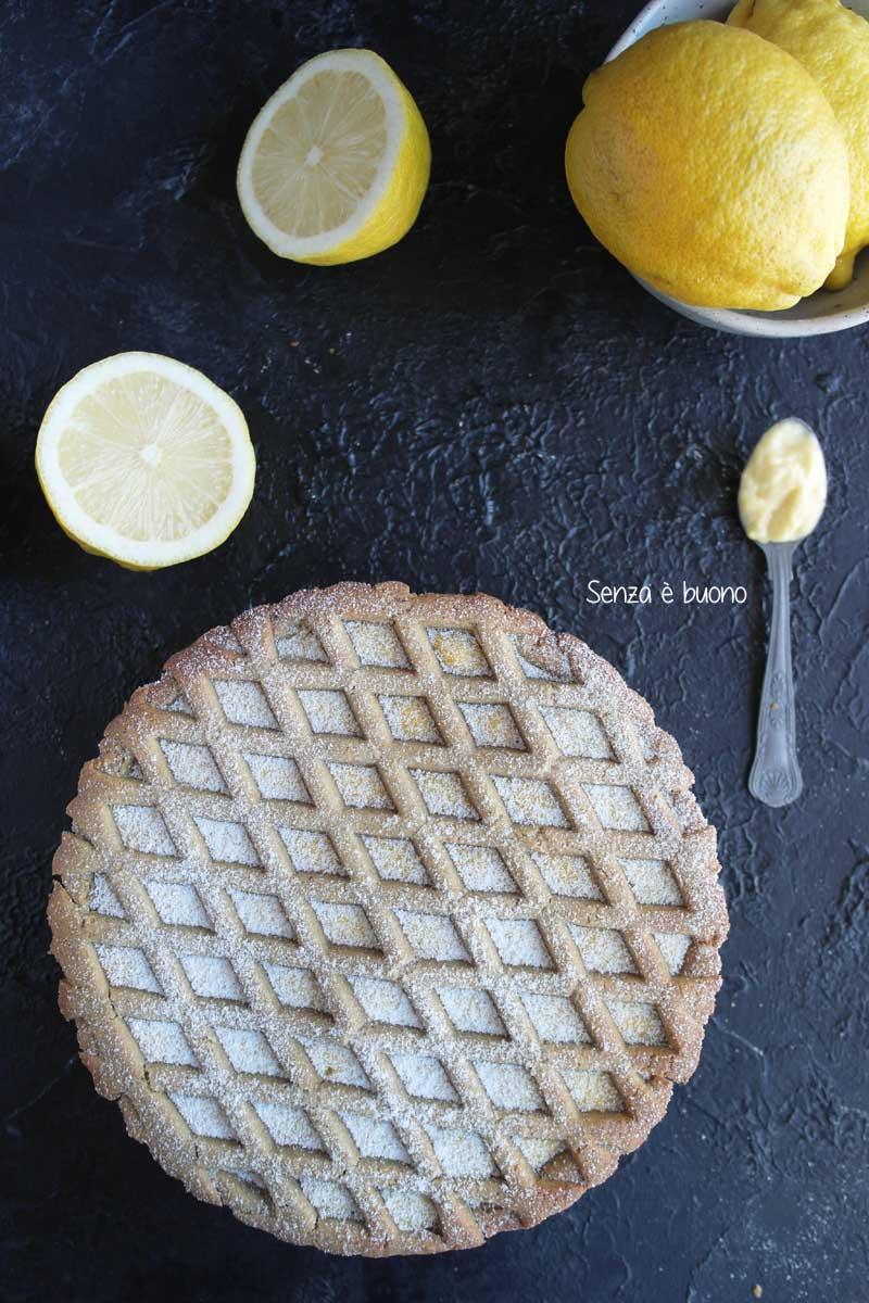 Crostata con crema pasticcera ricetta per celiaci