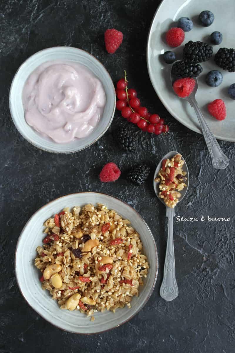 Granola in padella senza glutine vegan