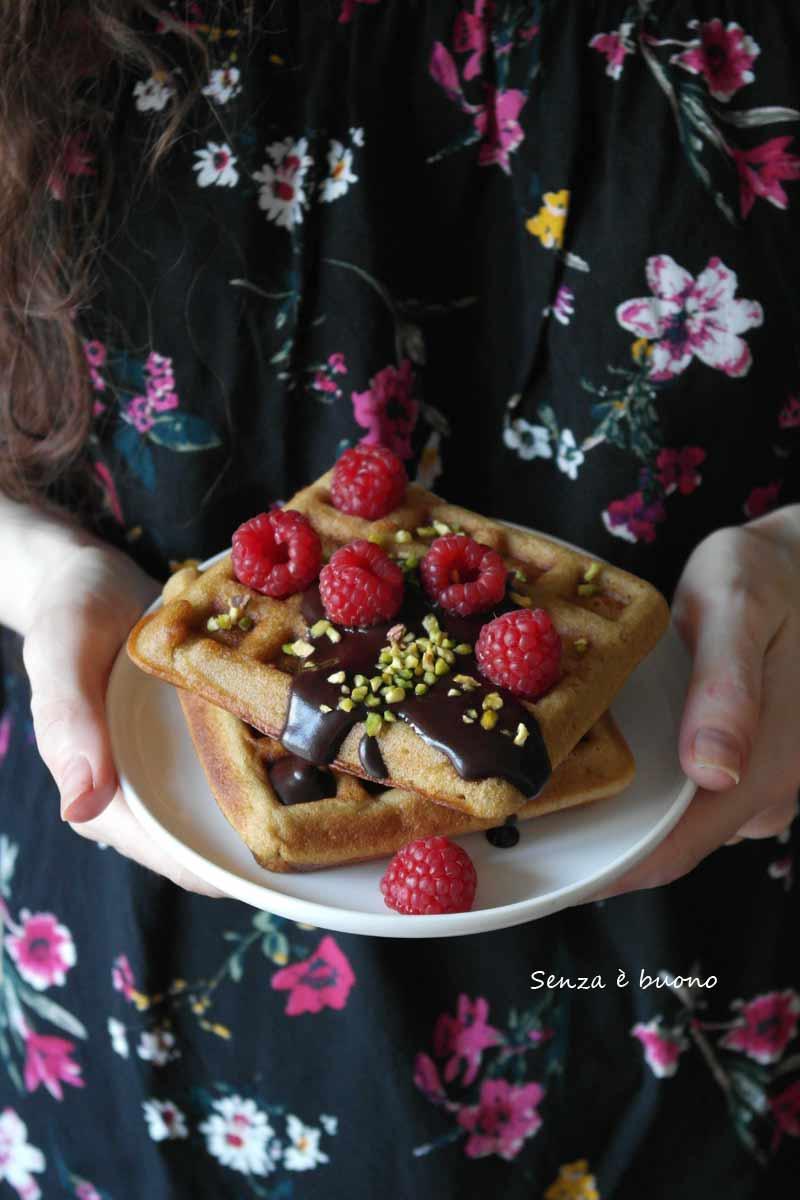 waffle ricetta per celiaci e intolleranti al lattosio