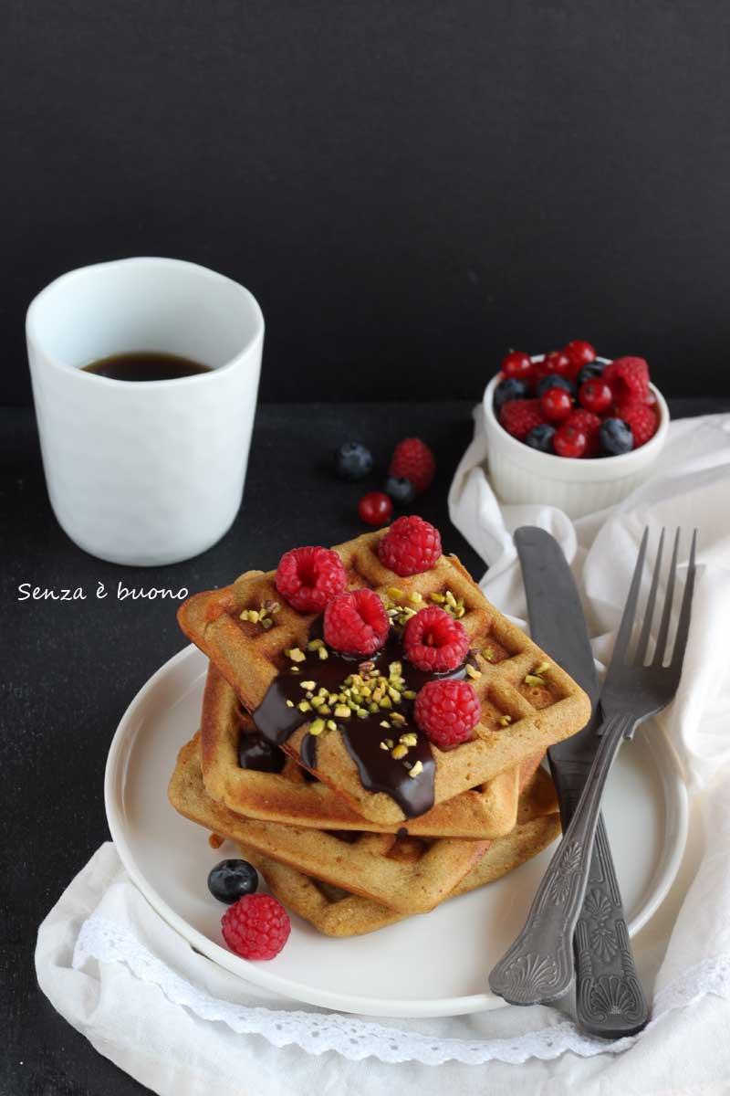 Waffle ricetta senza glutine e lattosio