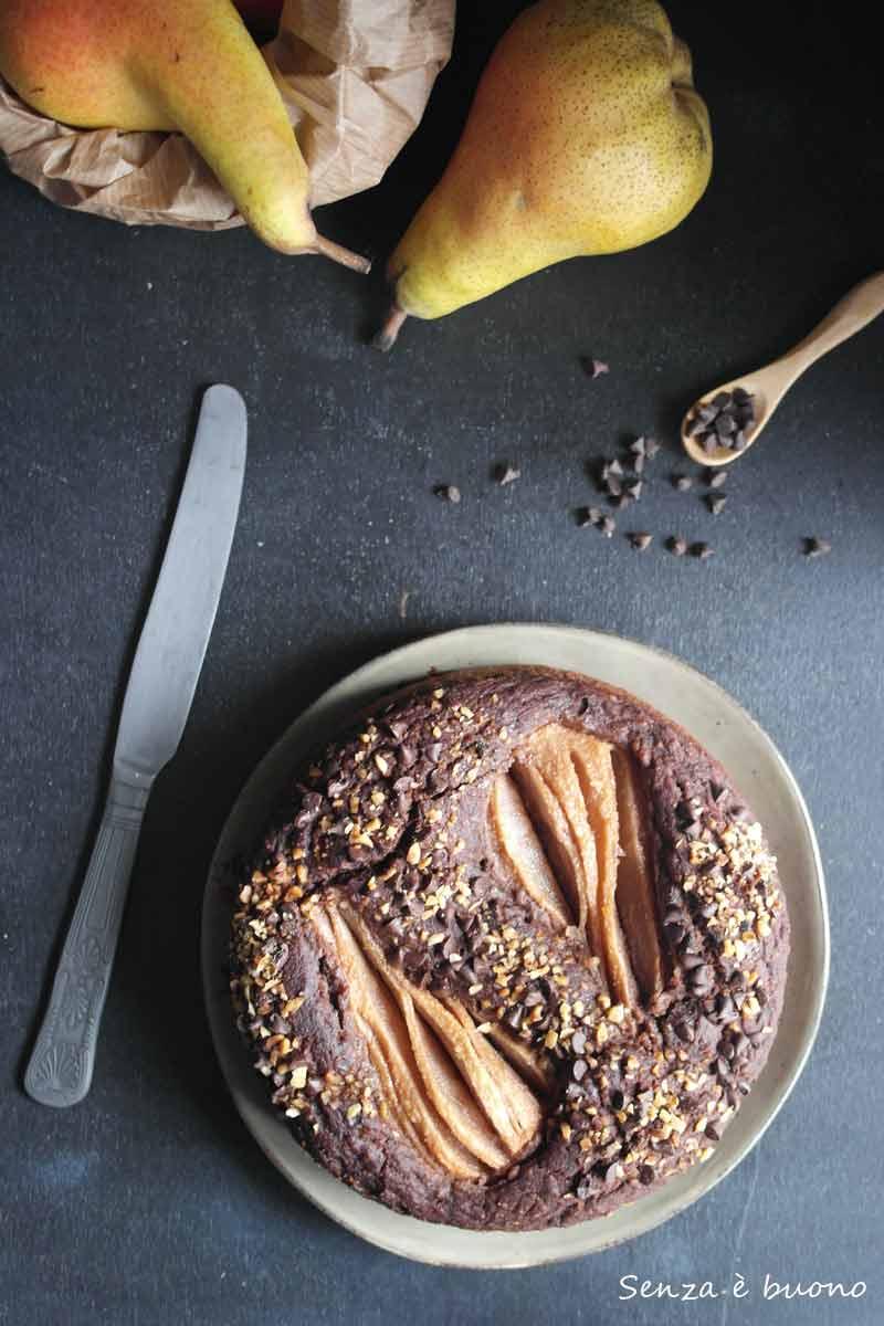 Torta pere e cioccolato ricetta vegan senza glutine
