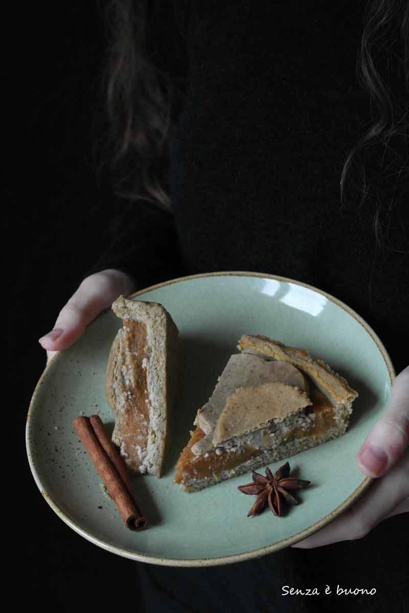 Pumpkin pie senza glutine vegan ricetta per celiaci