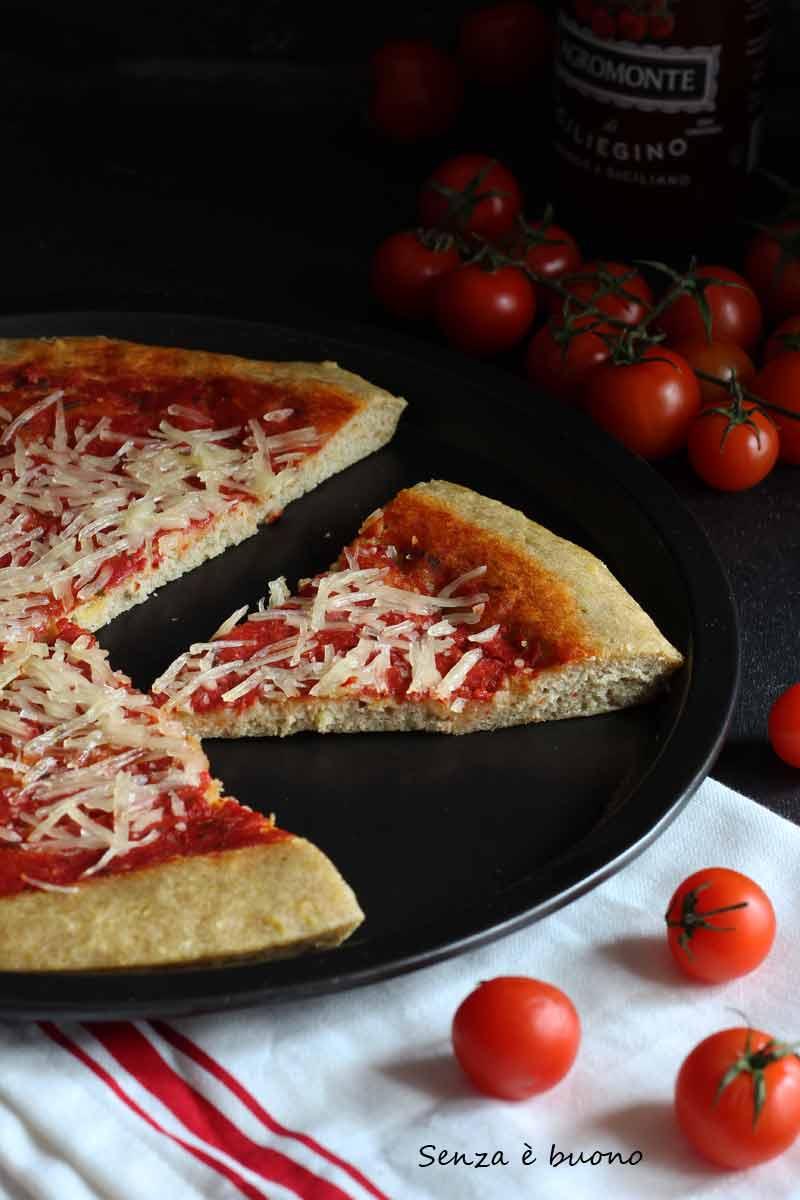 Pizza con farine naturali senza glutine e senza lievito di birra