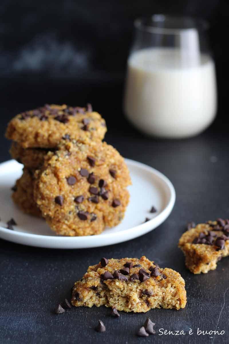 Biscotti zucca e cioccolato senza glutine vegan