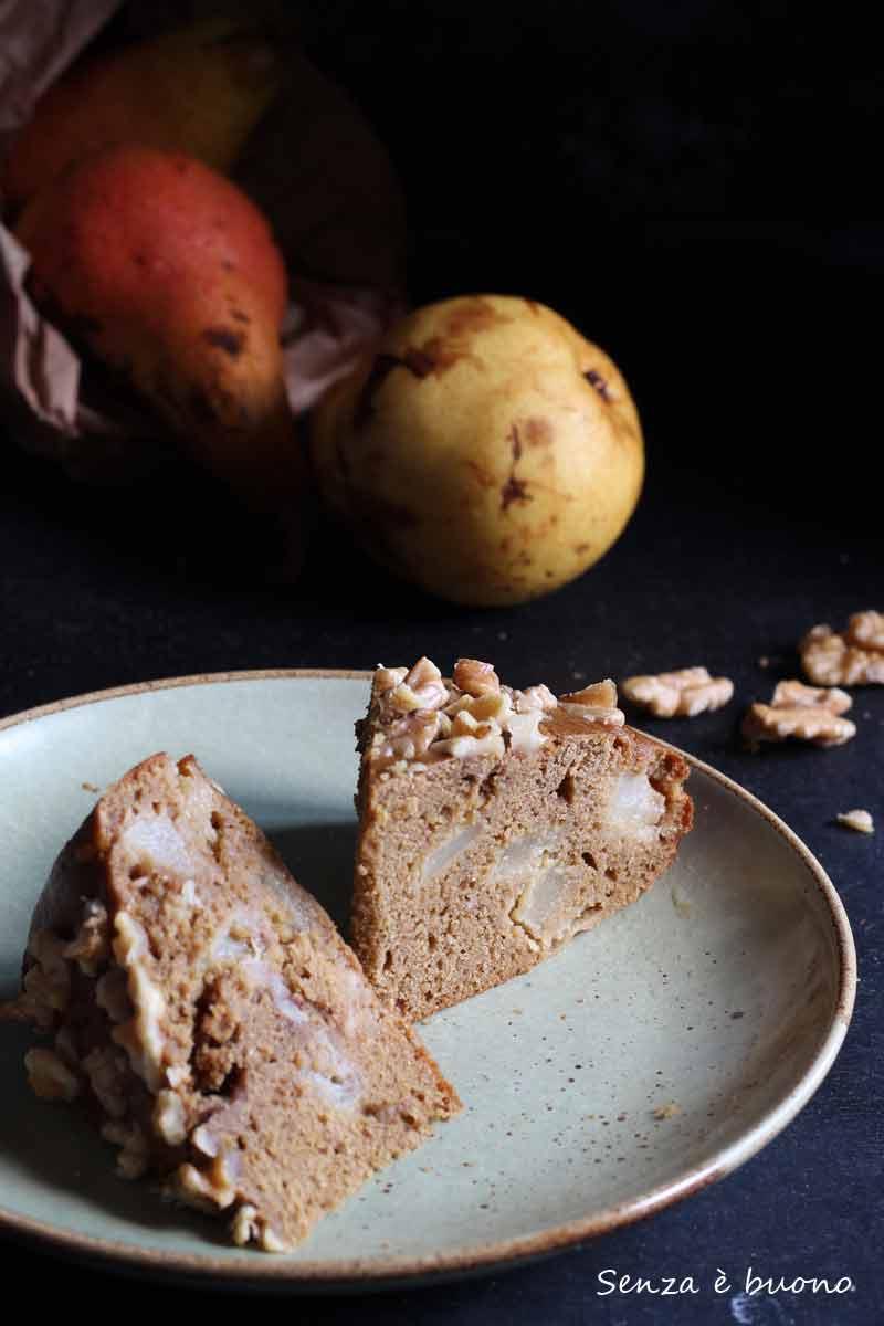Ricetta della torta noci e pere con farine naturali senza glutine
