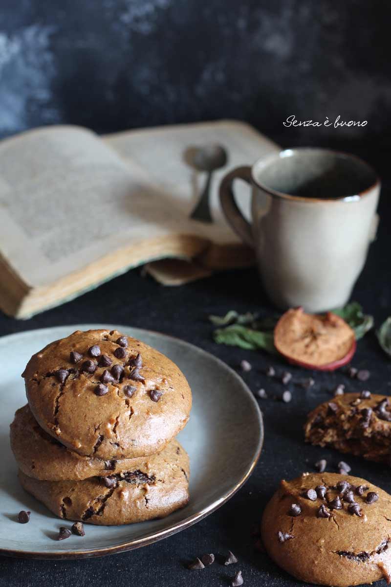 Biscotti al cioccolato ricetta senza glutine paleo