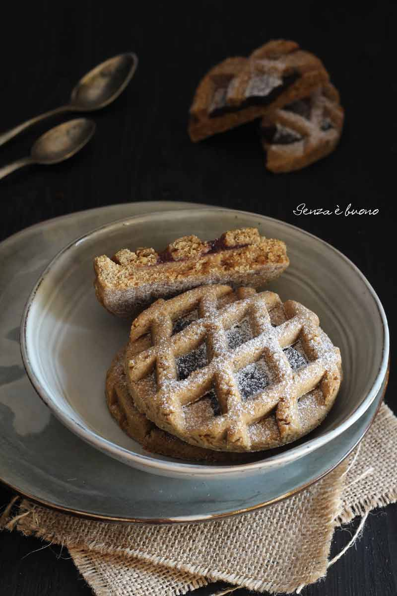 pie cookeis, biscotti crostatine alla crema di nocciola