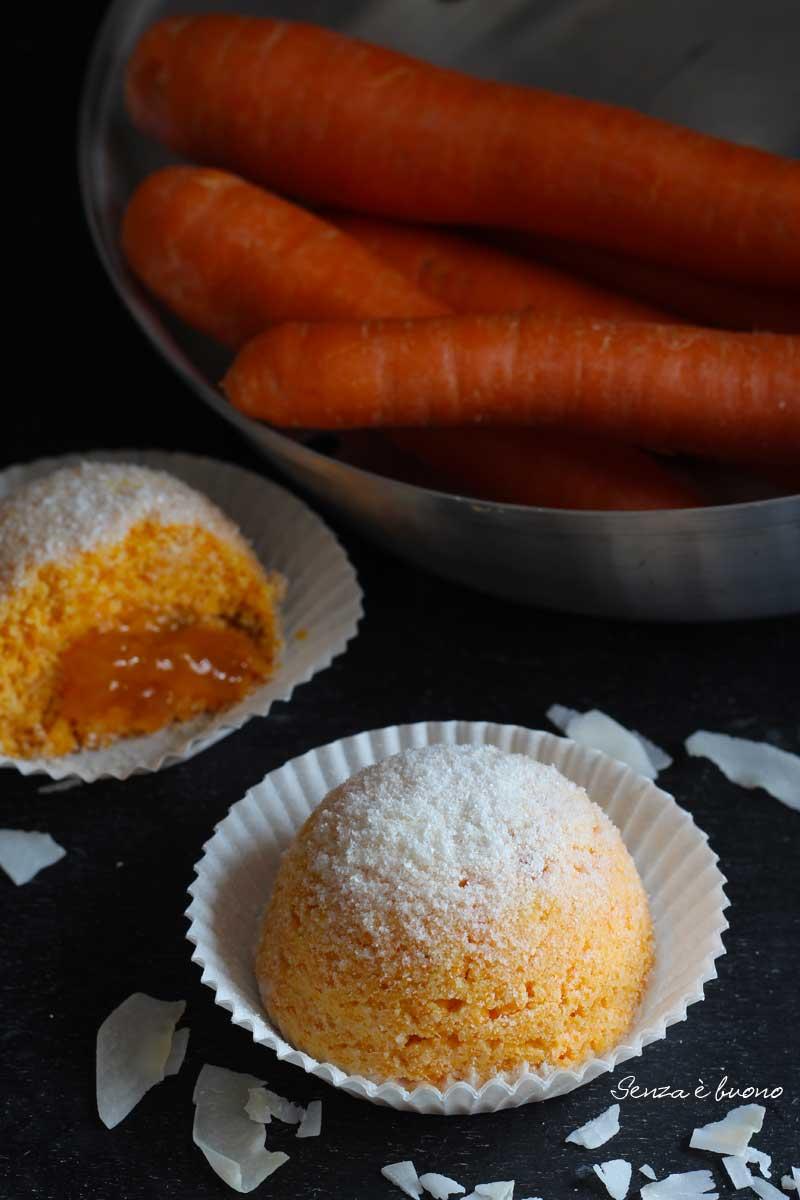 tortine carote e yogurt vegan senza glutine light
