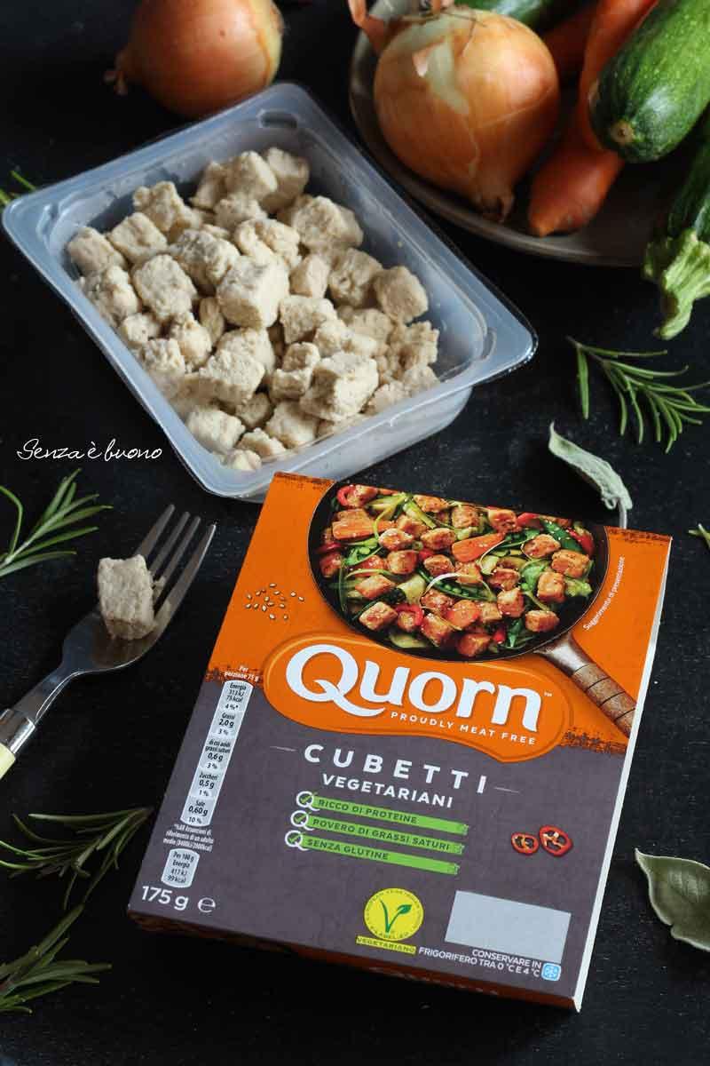 cubetti vegetariani senza glutine