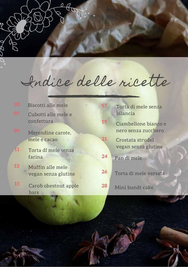 ricette senza glutine con le mele indice e-book