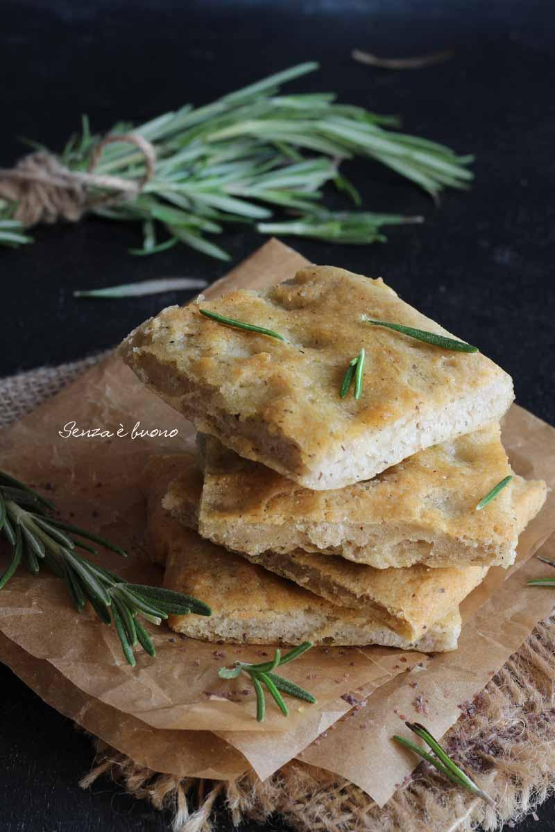 ricetta salata per celiaci focaccia rapida senza glutine senza lievito di birra