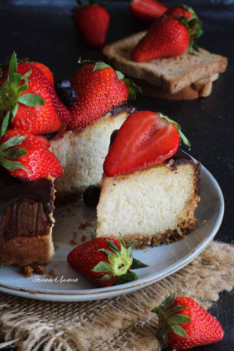 Ricetta della cheesecake cotta in forno vegan