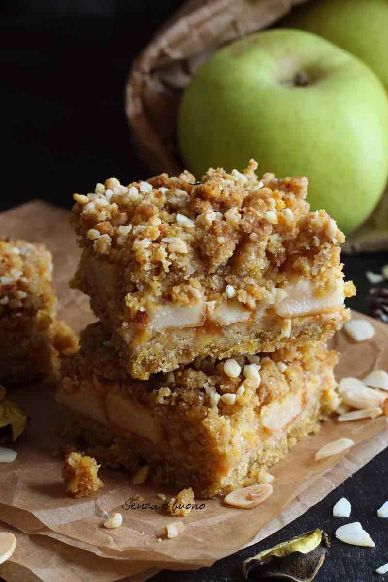 Sbriciolata di mele senza glutine senza burro ricetta