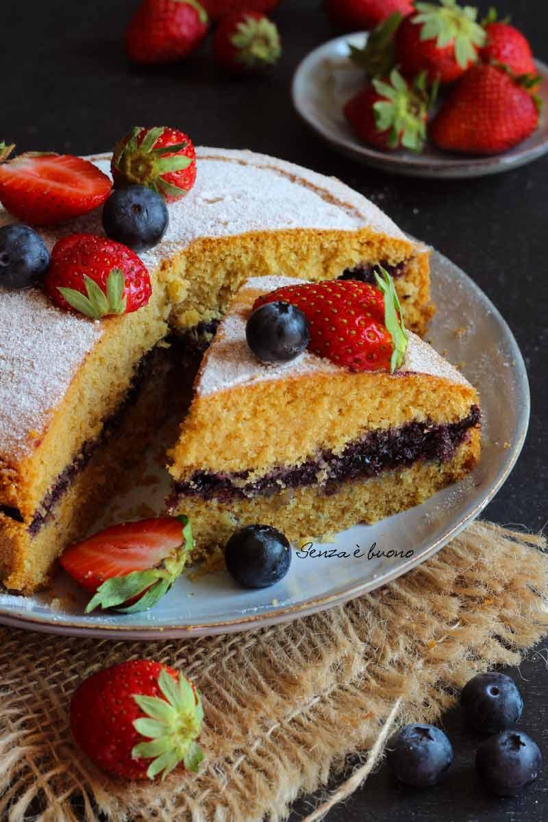 torta margherita con farina di riso senza latticini