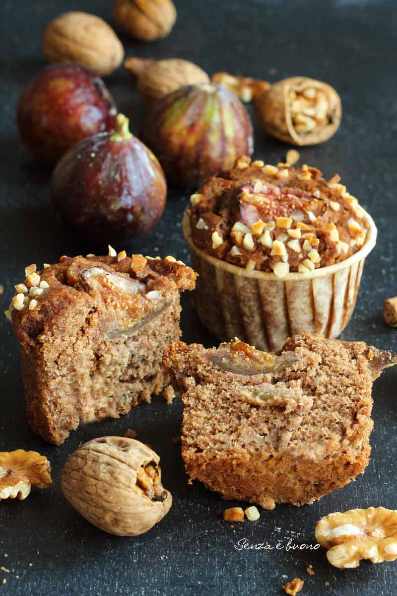 Muffin ai fichi vegan senza glutine