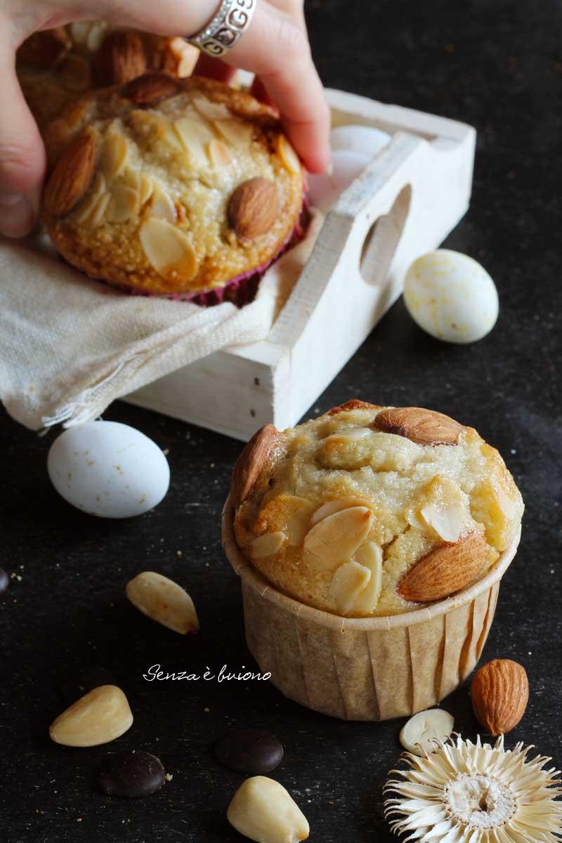 muffin senza glutine dal sapore di colomba di pasqua