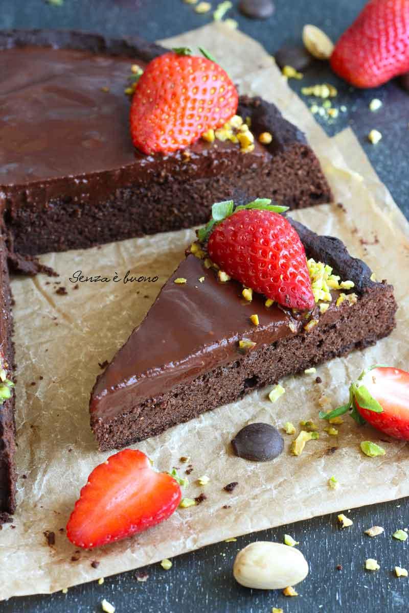 crostata morbida al cioccolato senza glutine