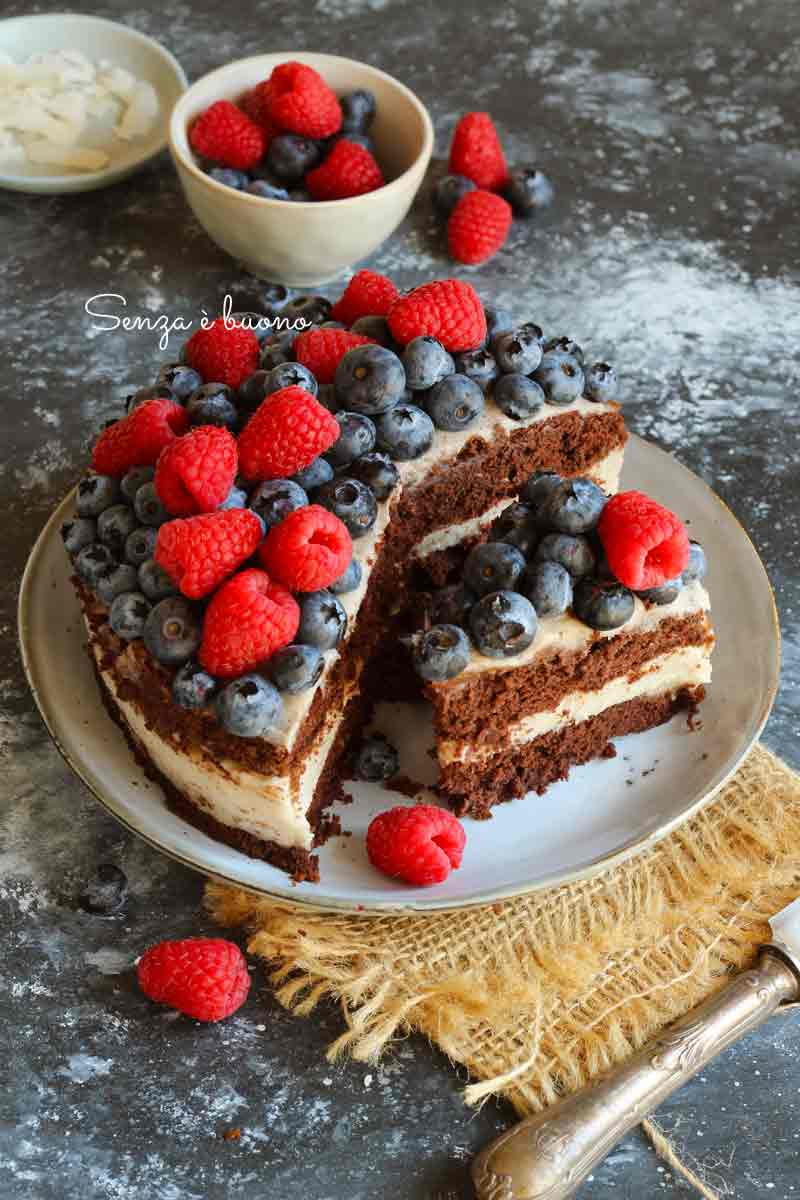 naked cake vegan senza glutine