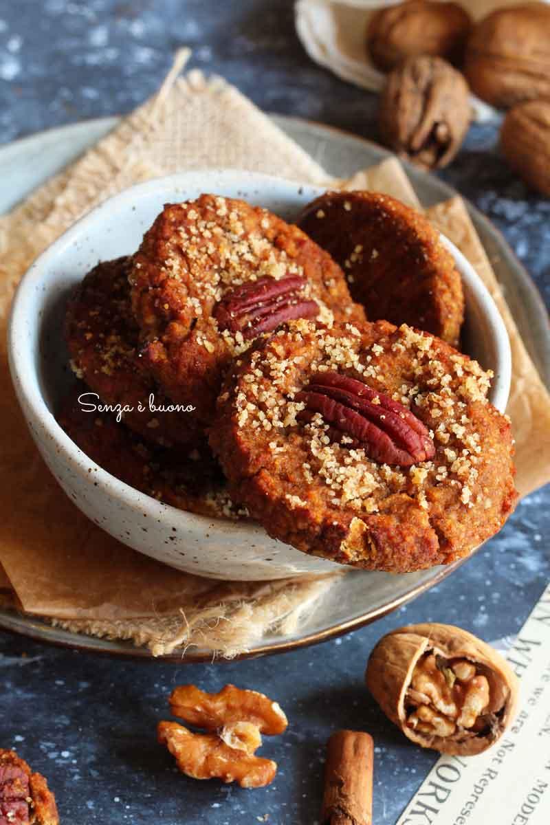 ricetta biscotti alla zucca con farina di noci vegan
