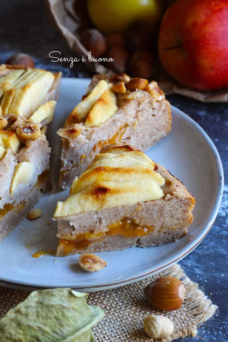 dolce alle mele e nocciole senza glutine