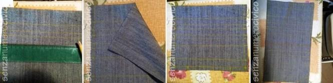 tracciatura linee sulla stoffa