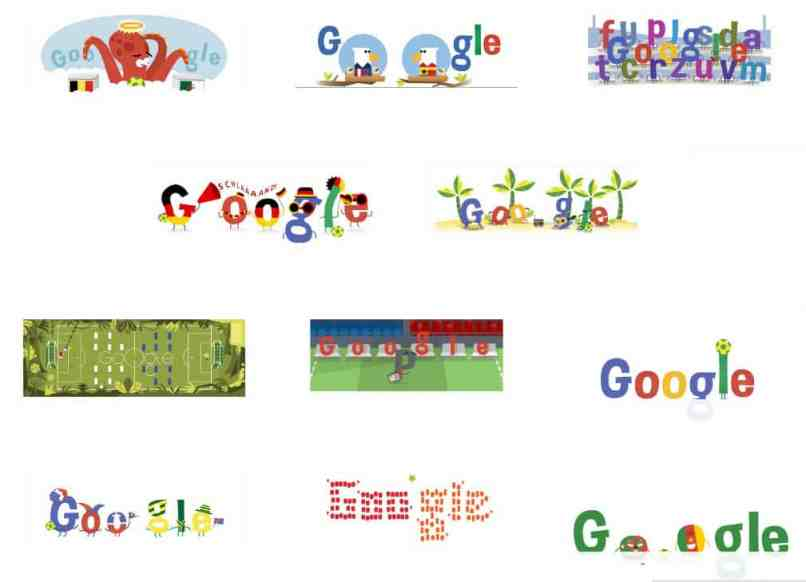 شعارات جوجل لكأس العالم