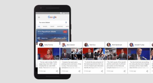 google candidates screenshot