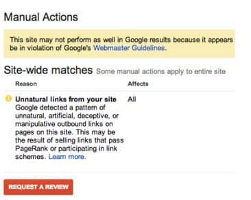 عقوبة جوجل نتيجة الروابط المنشورة في موقعك