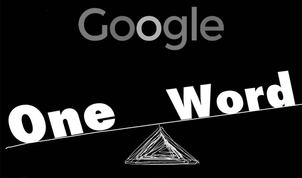 جوجل-كلمة-واحدة