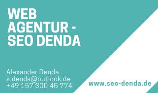 Visitenkarte SEO DENDA 2018/2019 - Erstellt mit Canva - SEO DENDA(c)