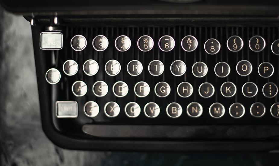 Alte Schreibmaschine - Quelle Burst