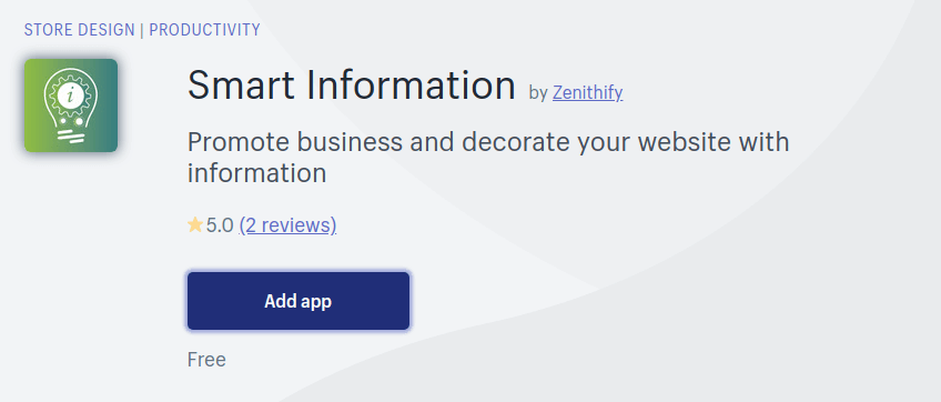 Kostenlose Shopify Apps 2