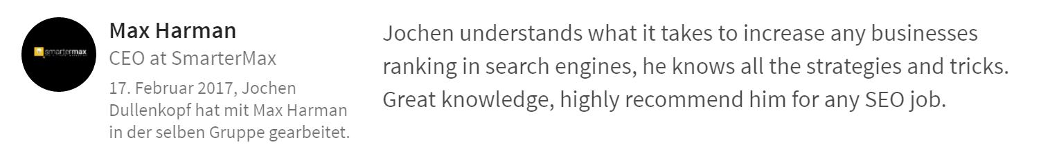 Empfehlung Suchmaschinenranking